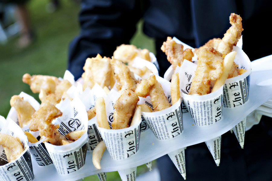 fish and chip wedding